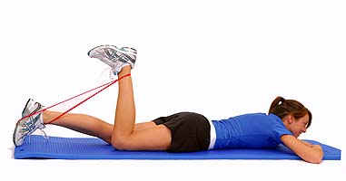 Hamstring exercise  standing hamstring curl  single leg
