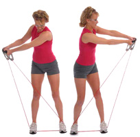 Thera Band Tubing Functional Golf Swing Exercise
