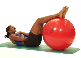 Pro Series Exercise Ball Abdominal Curl Up in Supine