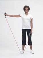 theraband tubing shoulder abduction  performance health