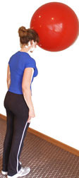 Pro Series Exercise Ball Cervical Stabilization in Standing