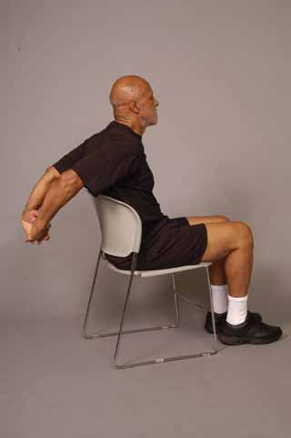 Chest Stretch in Sitting - Older Adult