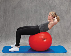 Pro Series Exercise Ball Abdominal Curl Up