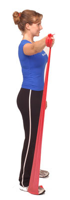 Thera-Band Shoulder Scaption in Standing
