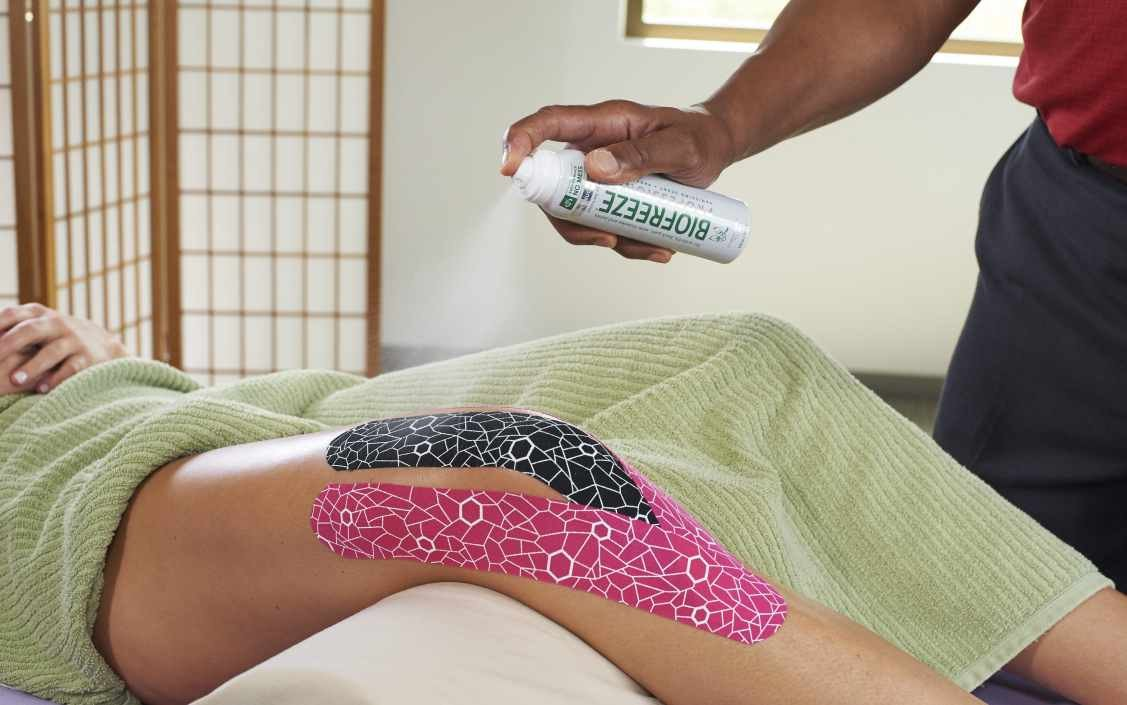 Use Kinesiology Tape and Biofreeze Together Safely in 2 Steps