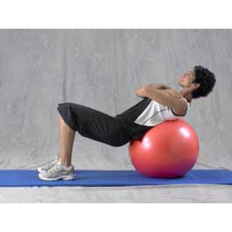 Pro Series Exercise Ball Bridge on Ball