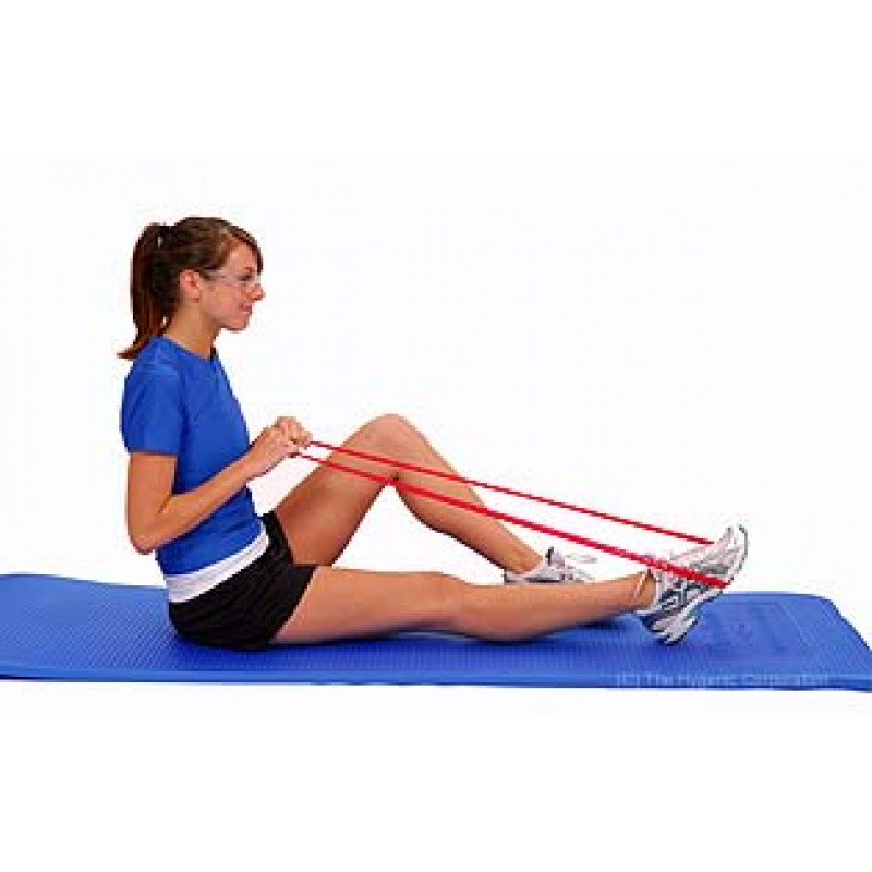 Thera-Band Loop Ankle Plantarflexion in Long-Sitting