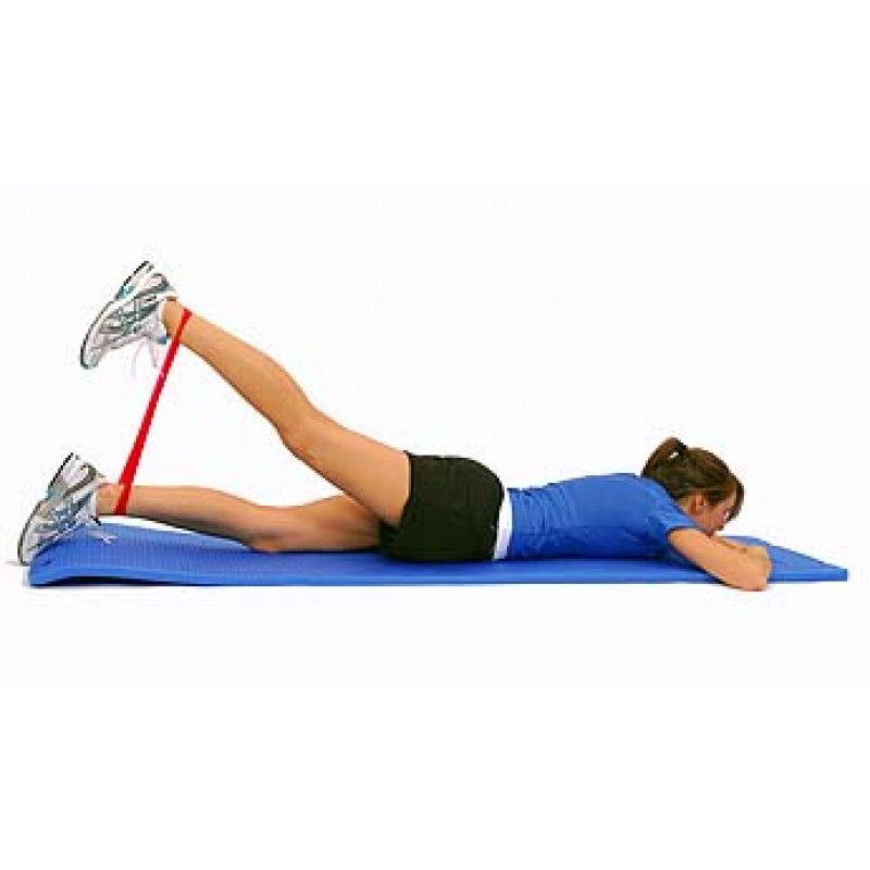 Thera-Band Loop Hip Extension in Prone