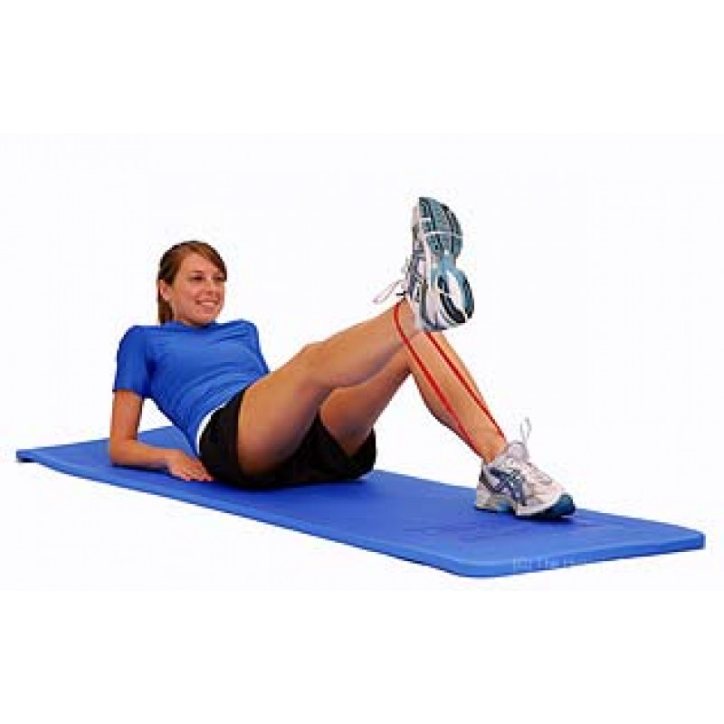 Thera-Band Loop Knee Extension in Supine