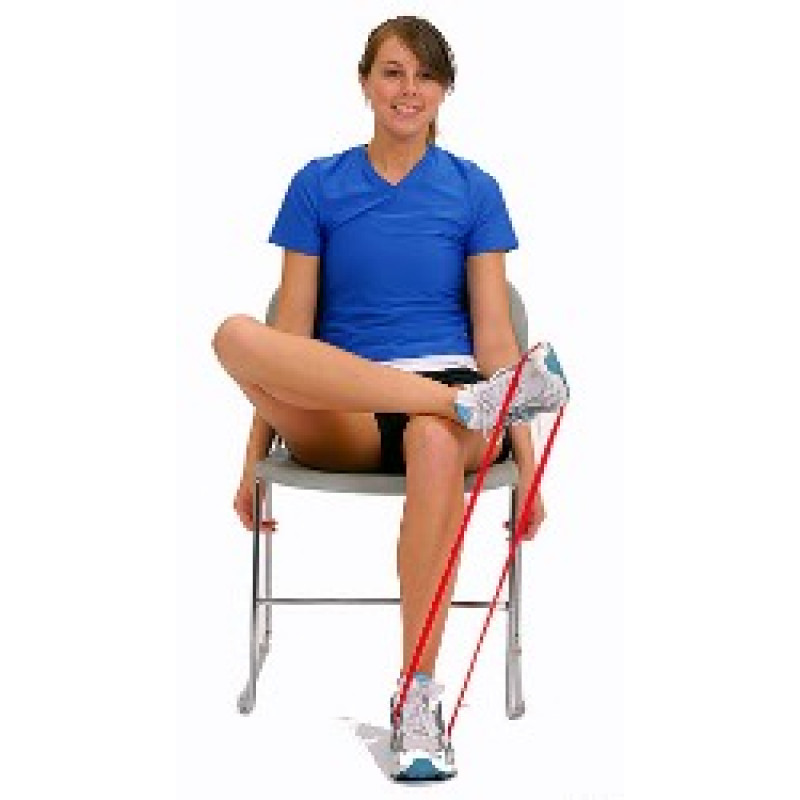 Thera-Band Loop Ankle Inversion in Sitting