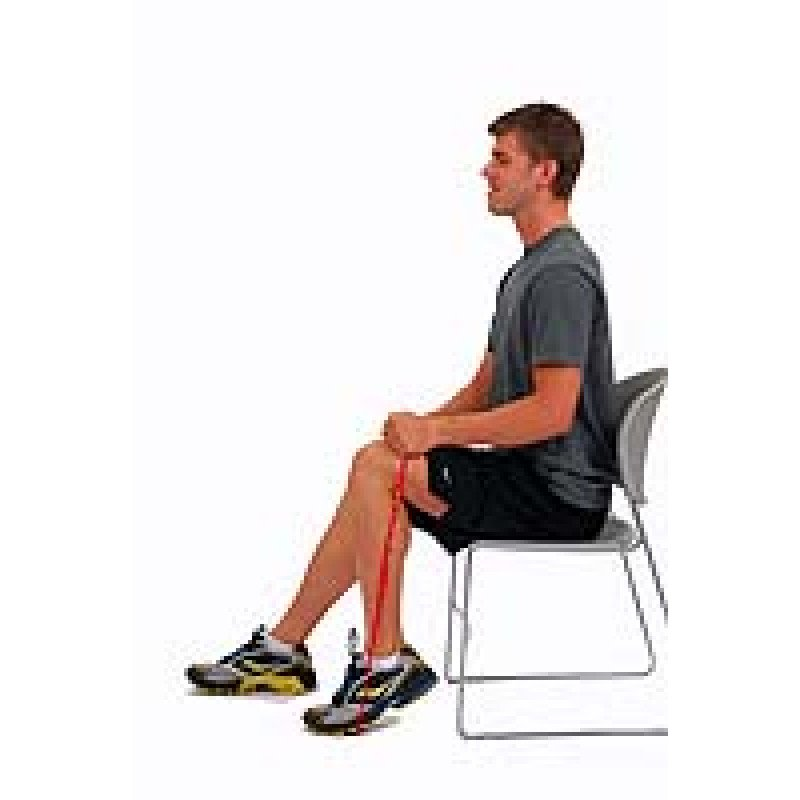 Thera-Band Loop Ankle Plantarflexion in Sitting