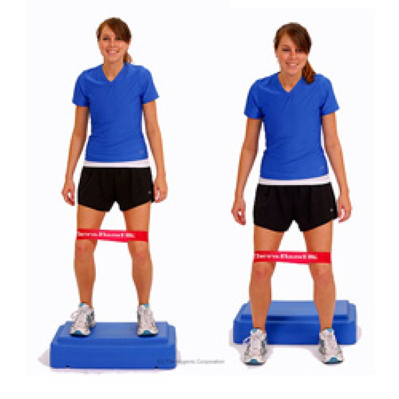 Thera-Band Loop Jump Downs with Hip Abduction