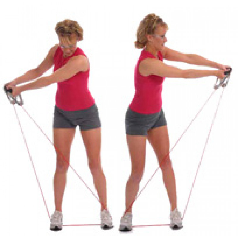 Thera-Band Tubing Functional Golf Swing Exercise