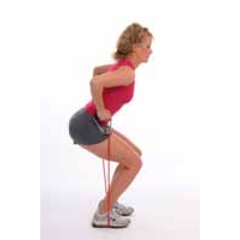 Thera-Band Tubing Squat