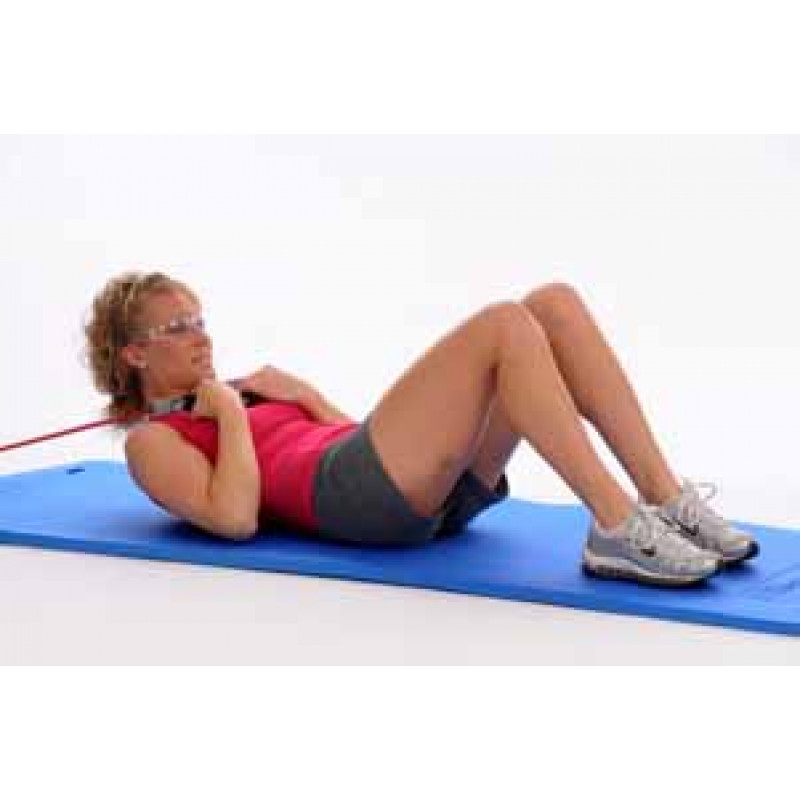 Thera-Band Tubing Supine Abdominal Crunch