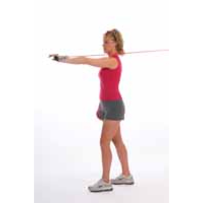 Thera-Band Tubing Shoulder Serratus Press
