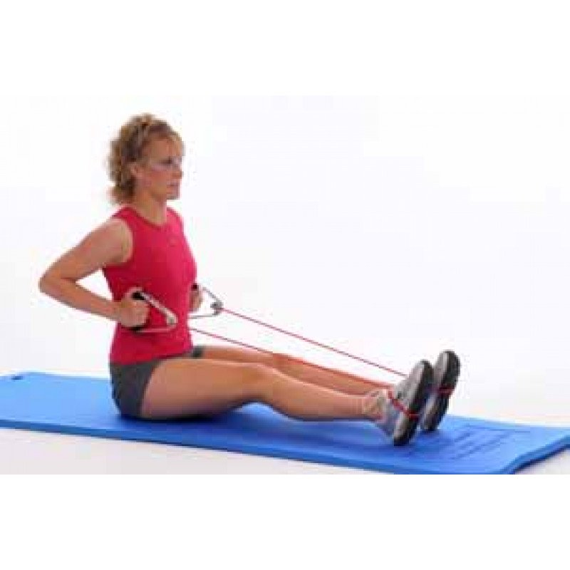 Thera-Band Tubing Long-Sitting Row