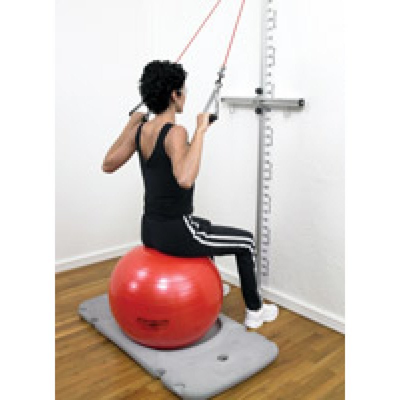 Rehab Station Lat Pull Down on Ball