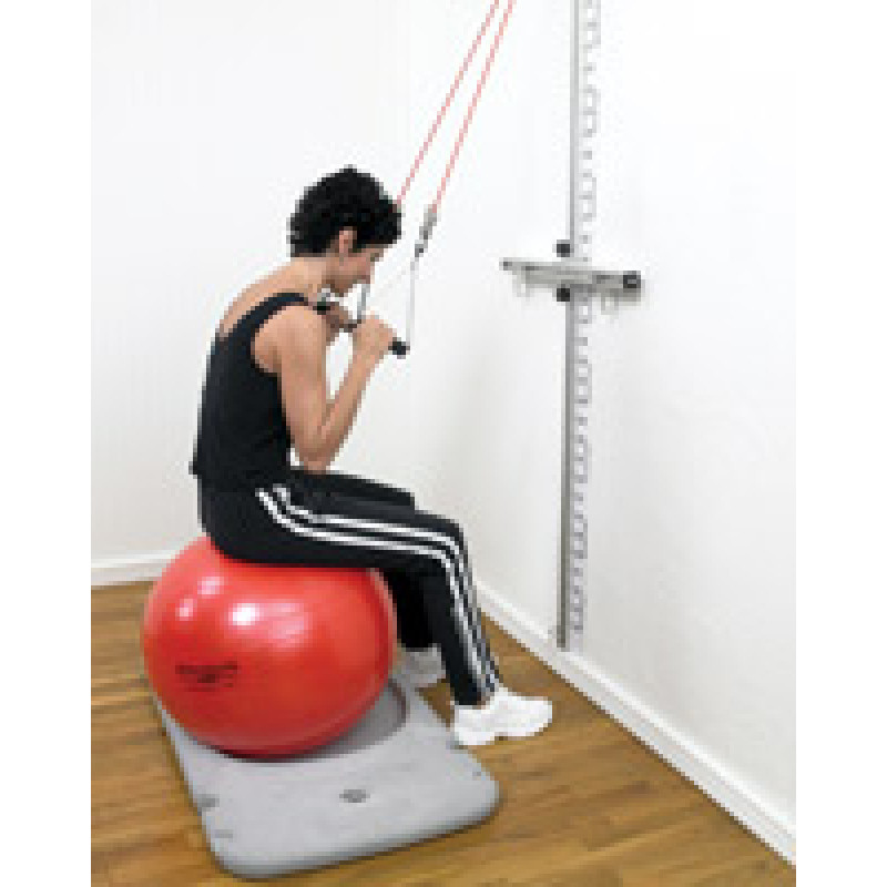 Rehab Station Abdominal Crunch Sitting on Ball