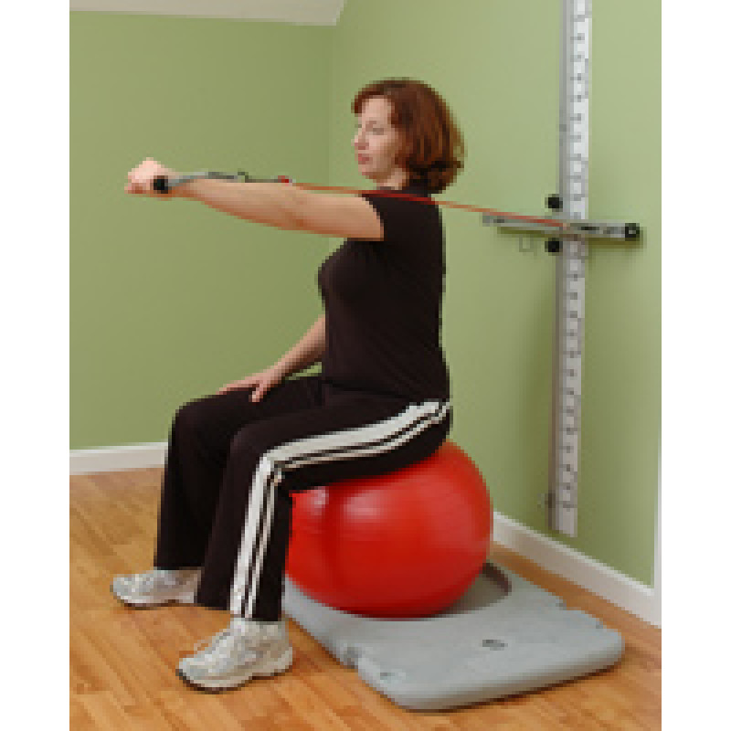 Rehab Station Scapular Protraction on Ball