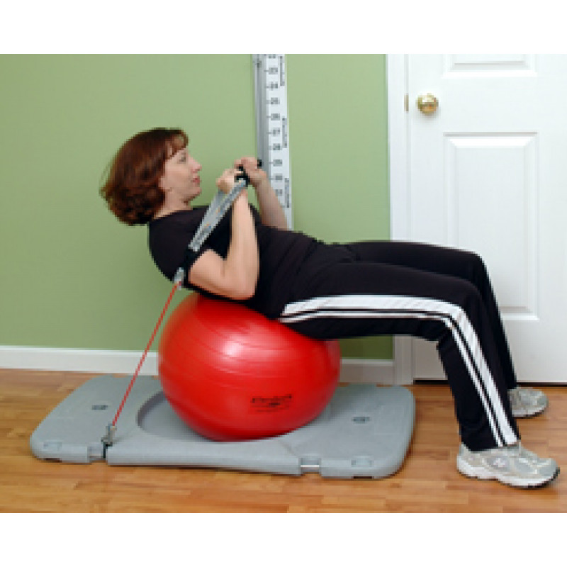 Rehab Station Abdominal Curl-Up on Ball