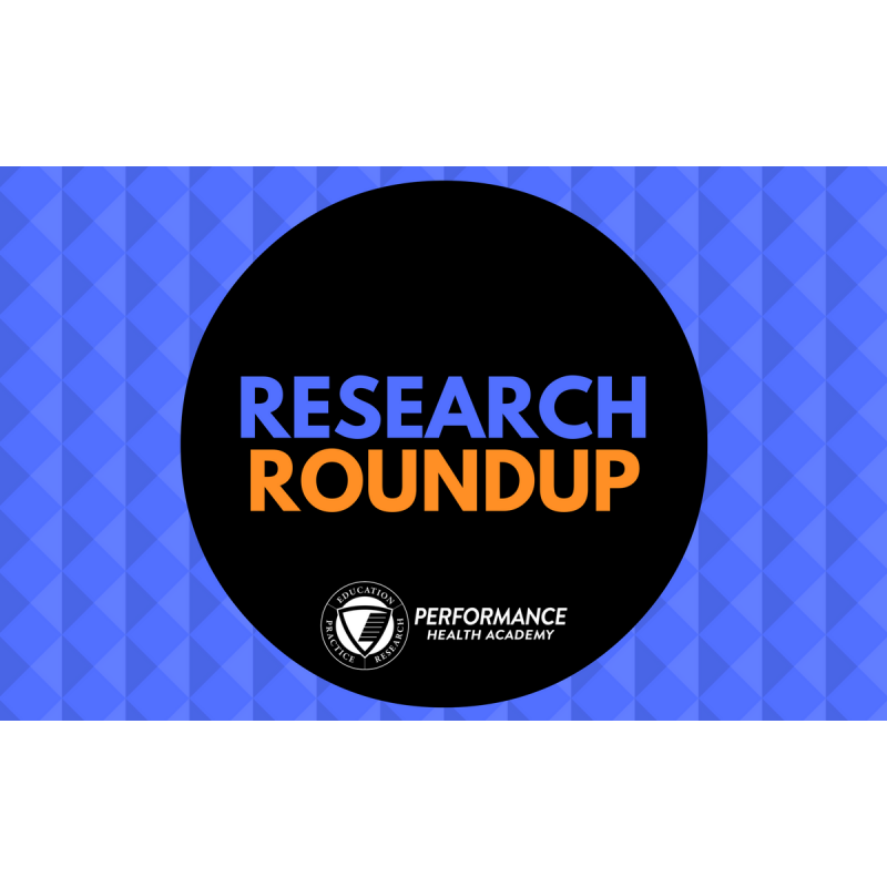 Performance Health Academy Research Digest: December 2016