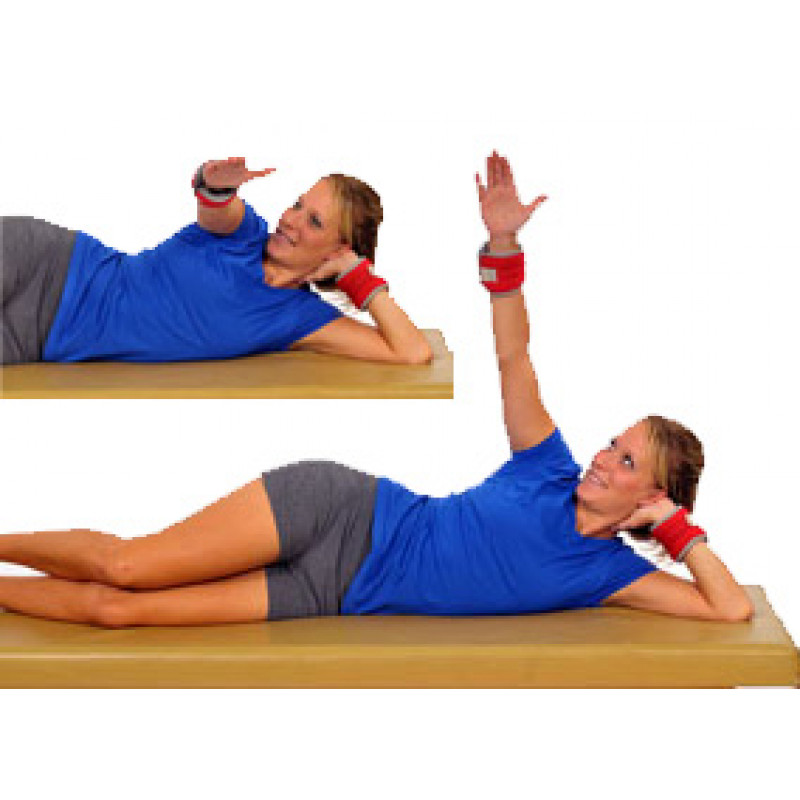 Thera-Band Cuff Weight Sidelying Horizontal Abduction