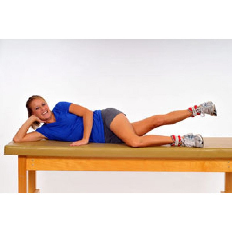 Thera-Band Cuff Weight Sidelying Hip Adduction