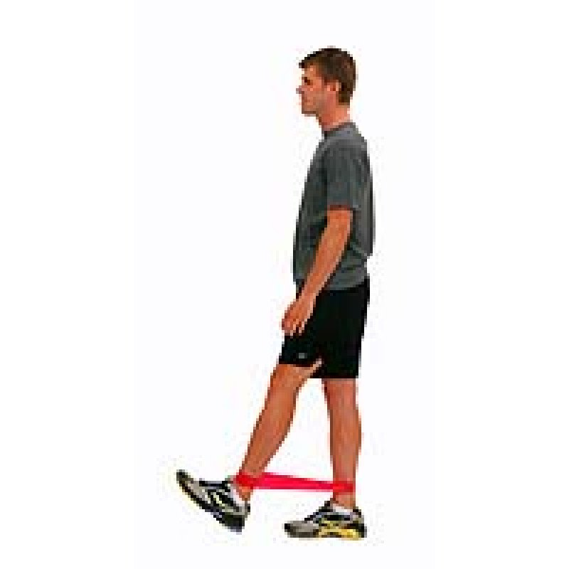 Thera-Band Loop Hip Flexion in Standing