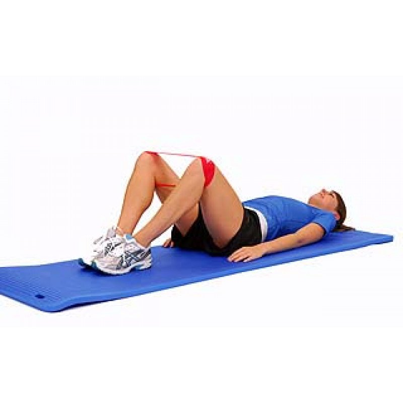 Thera-Band Loop Hip Abduction + Rotation in Supine