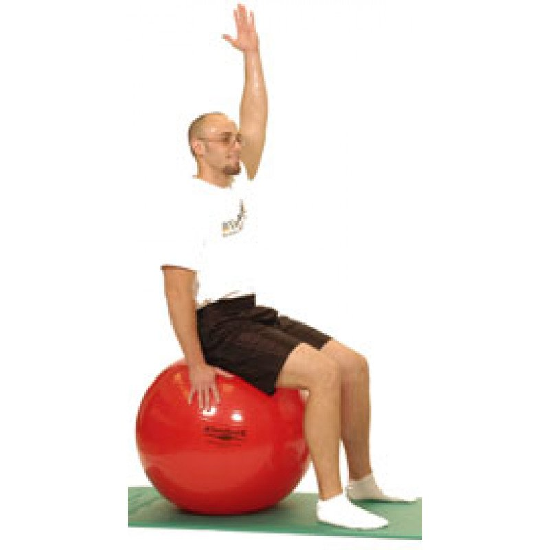 Pro Series Exercise Ball Sitting Shoulder Flexion