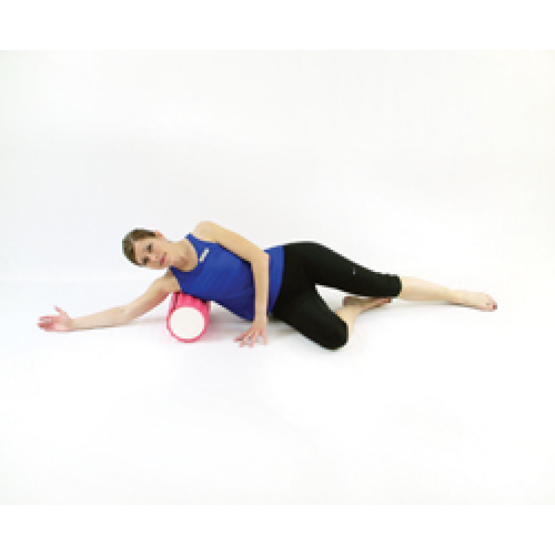Pro Foam Roller with Wrap Lats Release