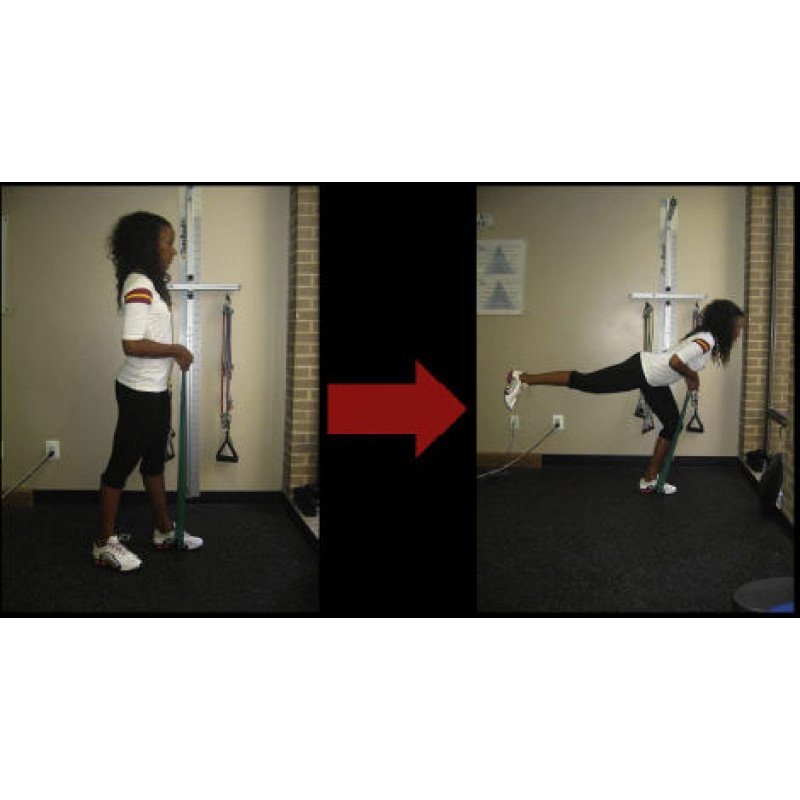 Thera-Band Hamstring Eccentric Closed-Chain Single Leg