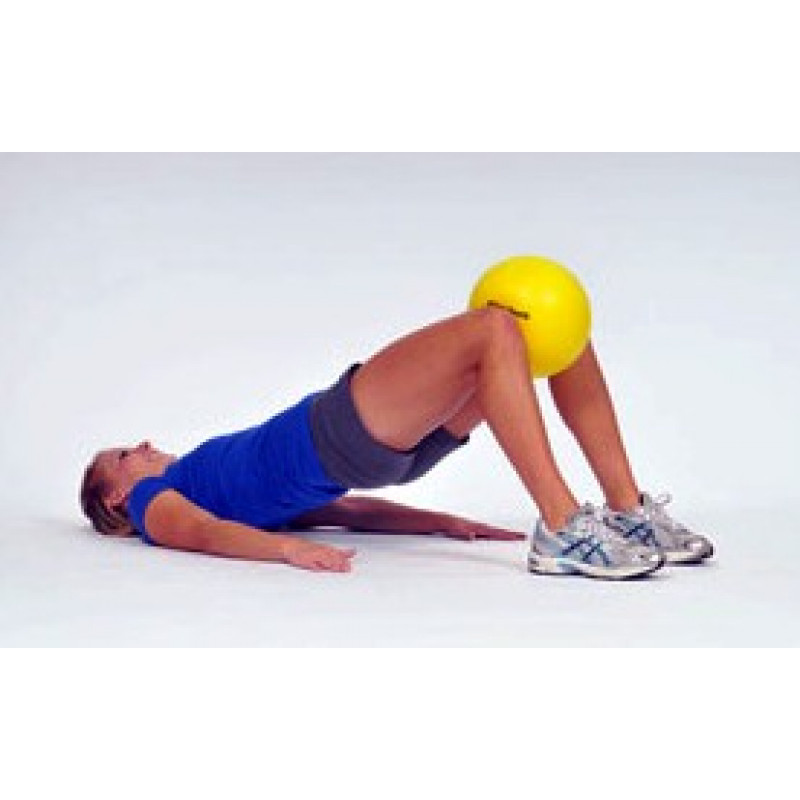 Thera-Band Mini Ball Bridge with Knee Squeeze