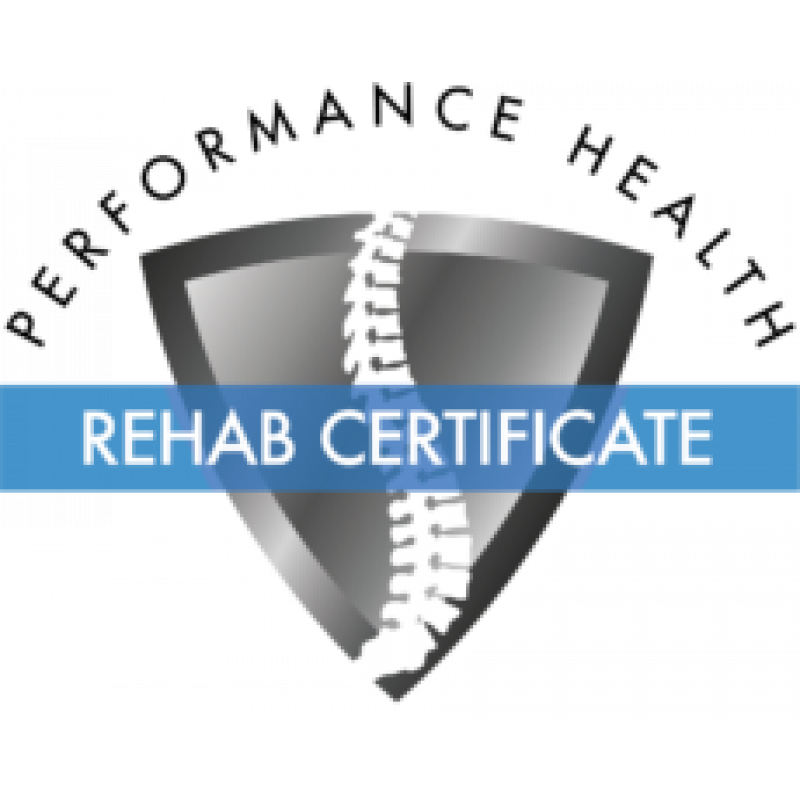 Performance Health Rehab Certificate
