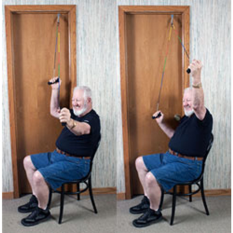 Pulley Shoulder Abduction (Scaption) in Sitting