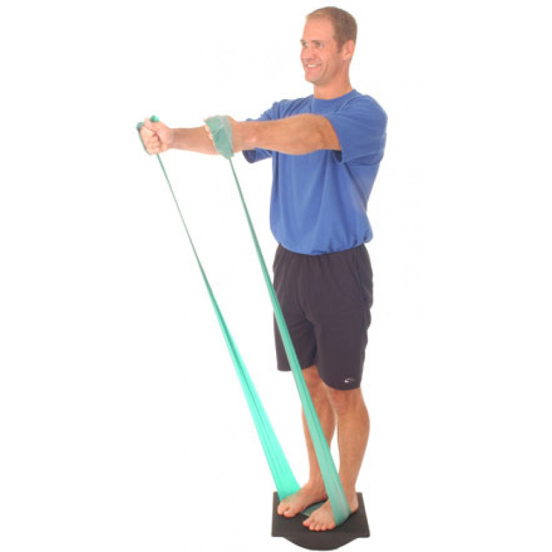 Thera-Band Rocker Board in Oblique Plane with Shoulder Flexion with Band