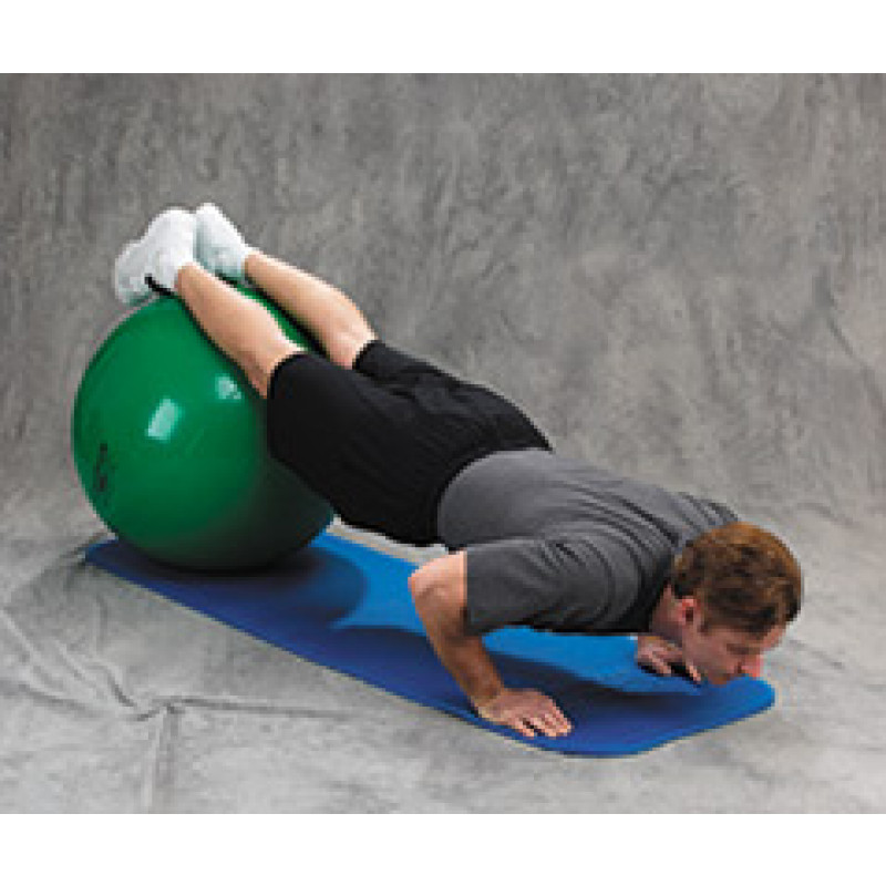 Pro Series Exercise Ball Push Up on Floor