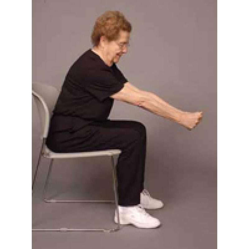 Stretch: Mid-back stretch in sitting