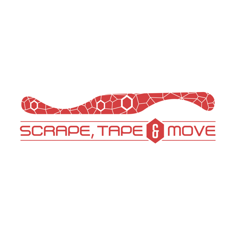 Scrape, Tape and Move Logo