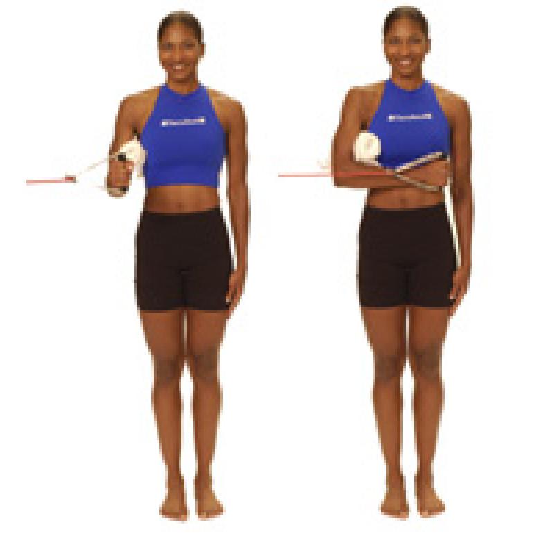 Thera-Band Shoulder Internal Rotation at 0 degrees