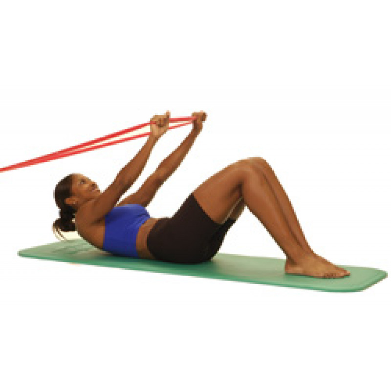 Thera-Band Abdominal Crunch in Supine