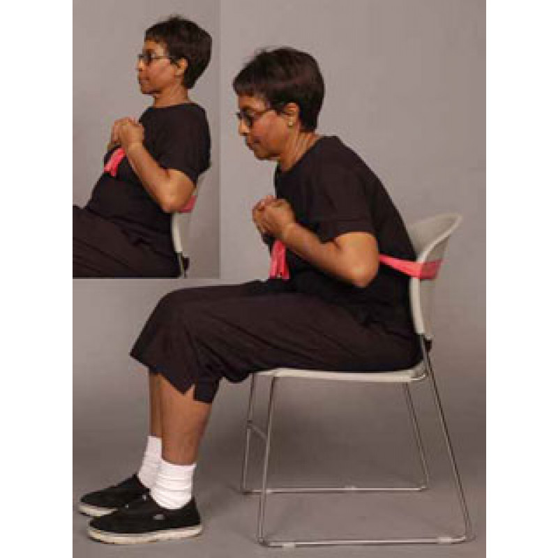 Thera-Band Abdominal Crunch in Sitting