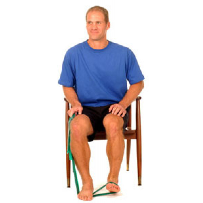 Thera-Band Ankle Dorsiflexion (sitting)