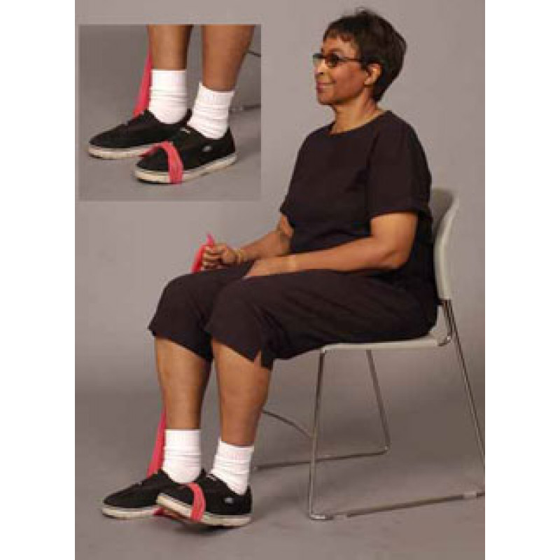 Thera-Band Ankle Dorsiflexion (Foot Raises) in Sitting