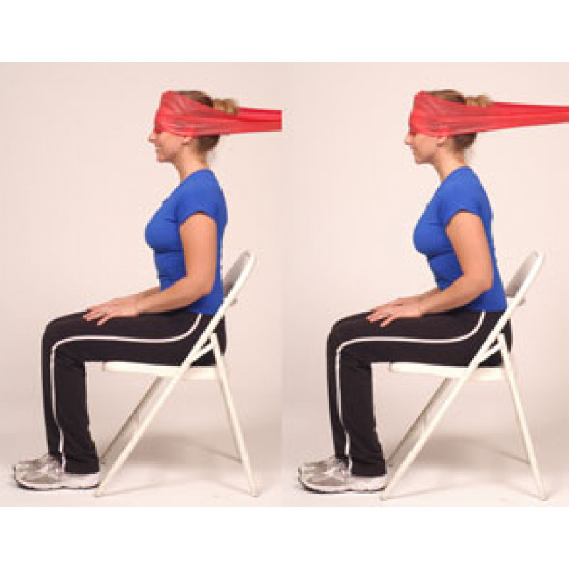 Thera-Band Cervical Flexion-Dynamic Isometric (sitting)