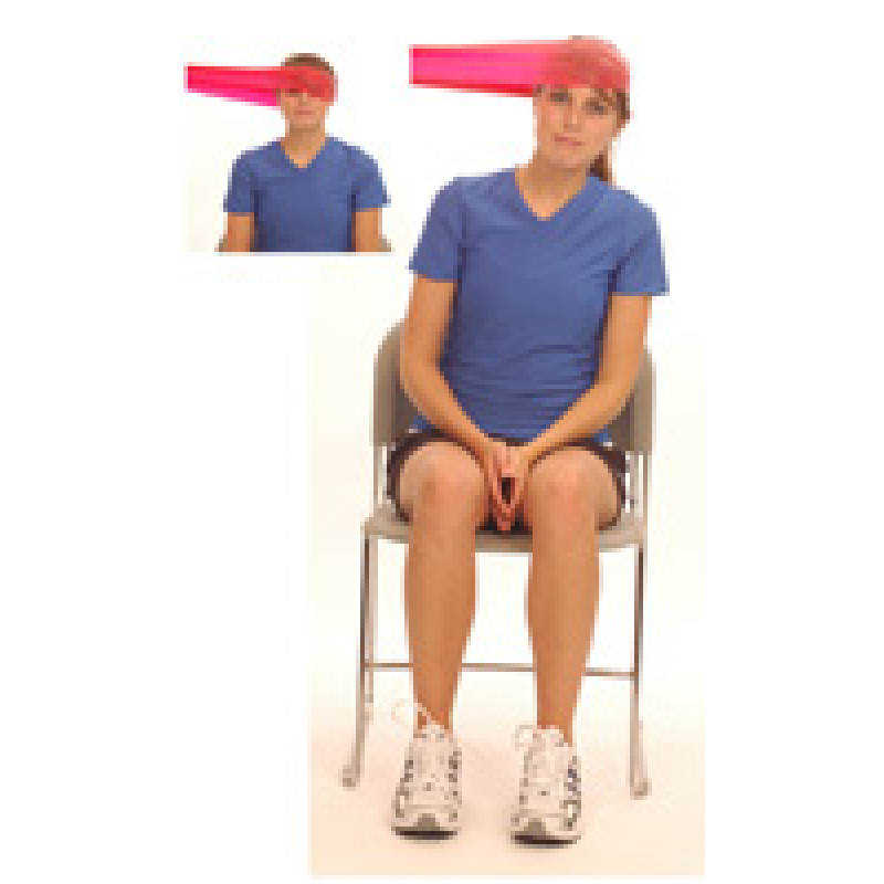 Thera-Band Cervical Sidebending-Dynamic Isometric (sitting)