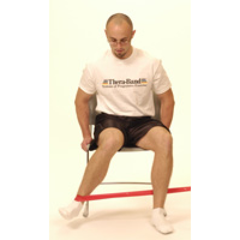 Thera-Band Hip Internal Rotation (sitting)