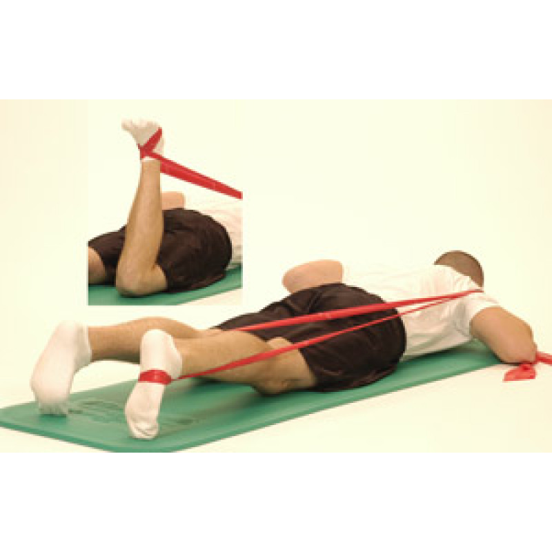 Thera-Band Knee Extension (in prone)