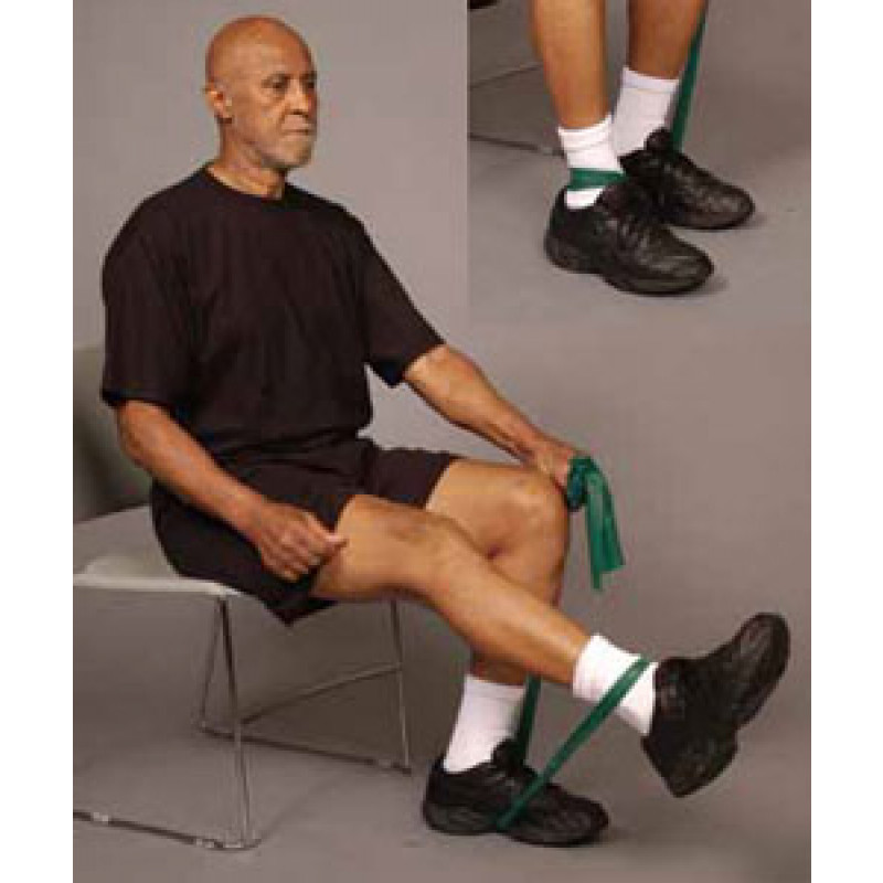 Thera-Band Knee Extension in Sitting